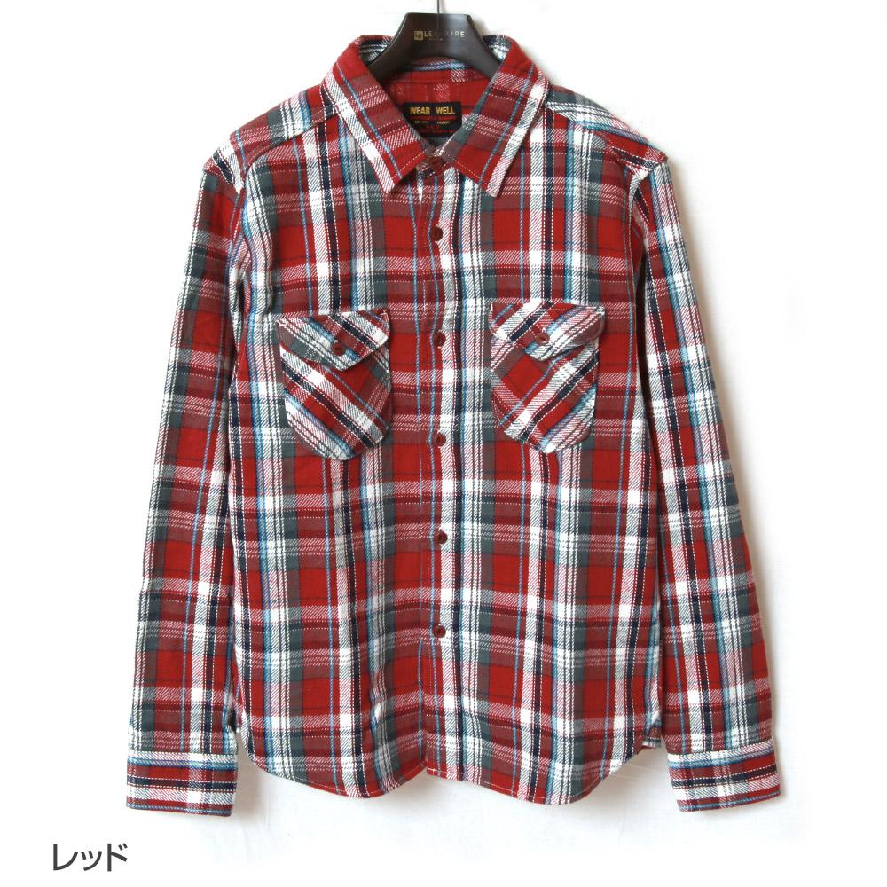 UES ウエス ヘビーネルシャツ 502152 長袖シャツ メンズ アメカジ 厚手 チェック