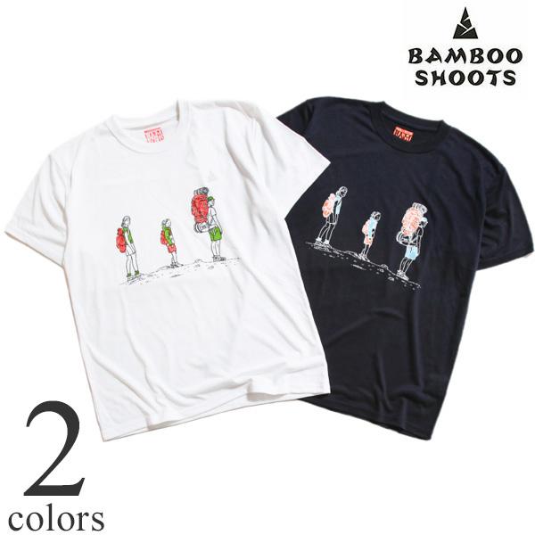 BAMBOO SHOOTS バンブーシュート 速乾プリントTシャツ LOOK BACK 2102007