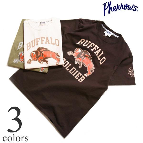 Pherrow's フェローズ 30周年記念モデル プリントTシャツ EASY NAVY 21S-PT30th