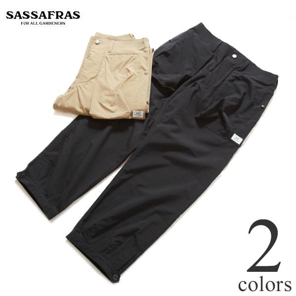 SASSAFRAS ササフラス Digs Crew Pants 4/5 ディグスクルーパンツ ナイロンオックスフォード 9分丈 SF-211771