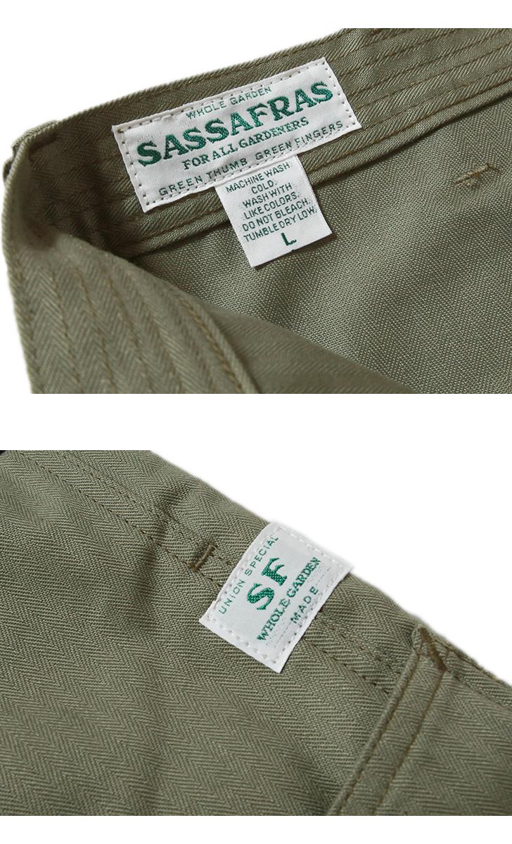 SASSAFRAS ササフラス FALL LEAF TOUGH PANTS フォールリーフタフパンツ ヘリンボーン SF-211767