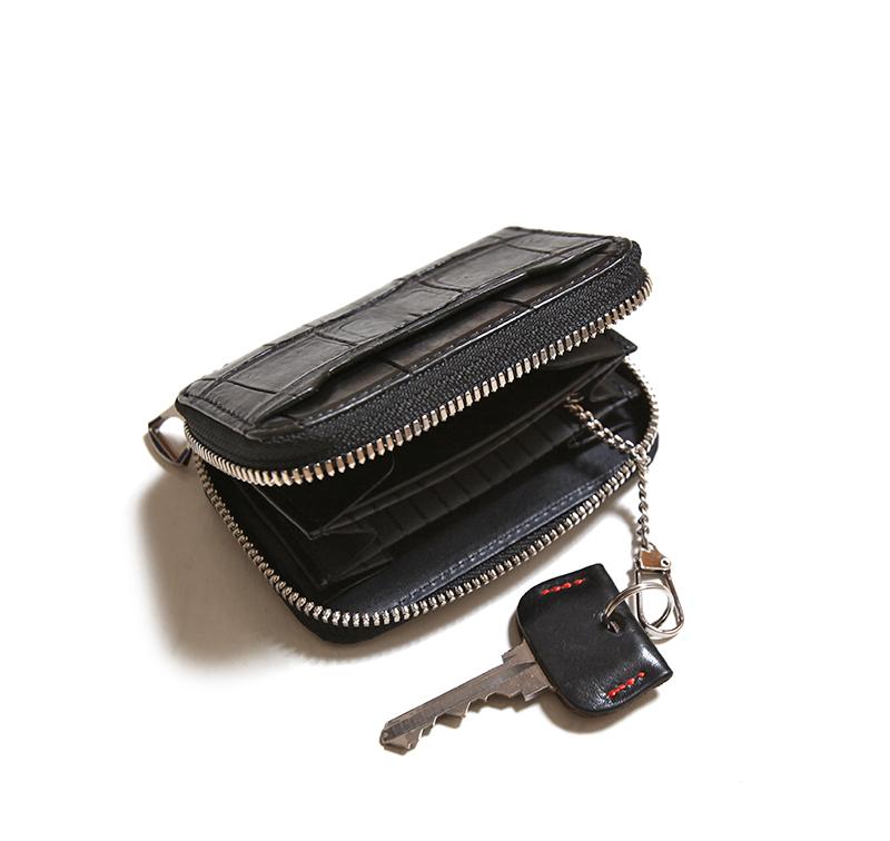 ITTI イッチ クリスティ コインカードウォレット クロコダイル CRISTY COIN CARD WLT CROCO ブラック 二つ折り財布 ITTI-WLT-012-G