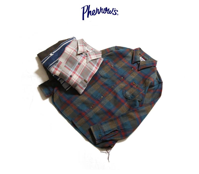 フェローズ ヘビーネルシャツ Pherrow's 20W-720WS