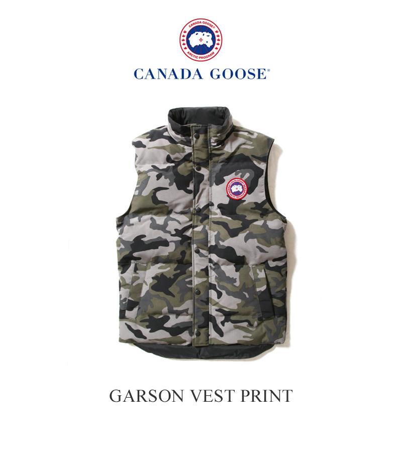 CANADA GOOSE カナダグース メンズ ギャルソンベスト プリント MEN'S GARSON VEST PRINT 4151MP カモフラージュ柄 カモ柄 ダウン 2020年 日本正規品