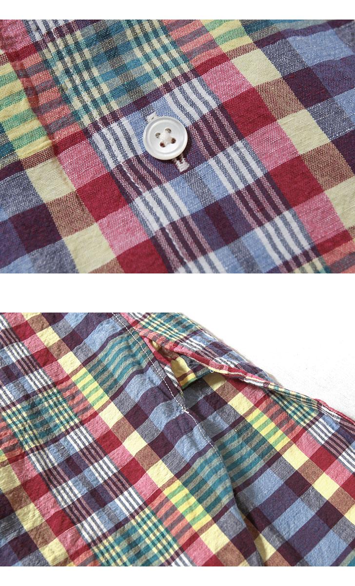 キャプテンサンシャイン レギュラーカラーシャツ チェック柄 マドラスチェック Reguiar Collar Shirt KAPTAIN SUNSHINE KS21SSH10
