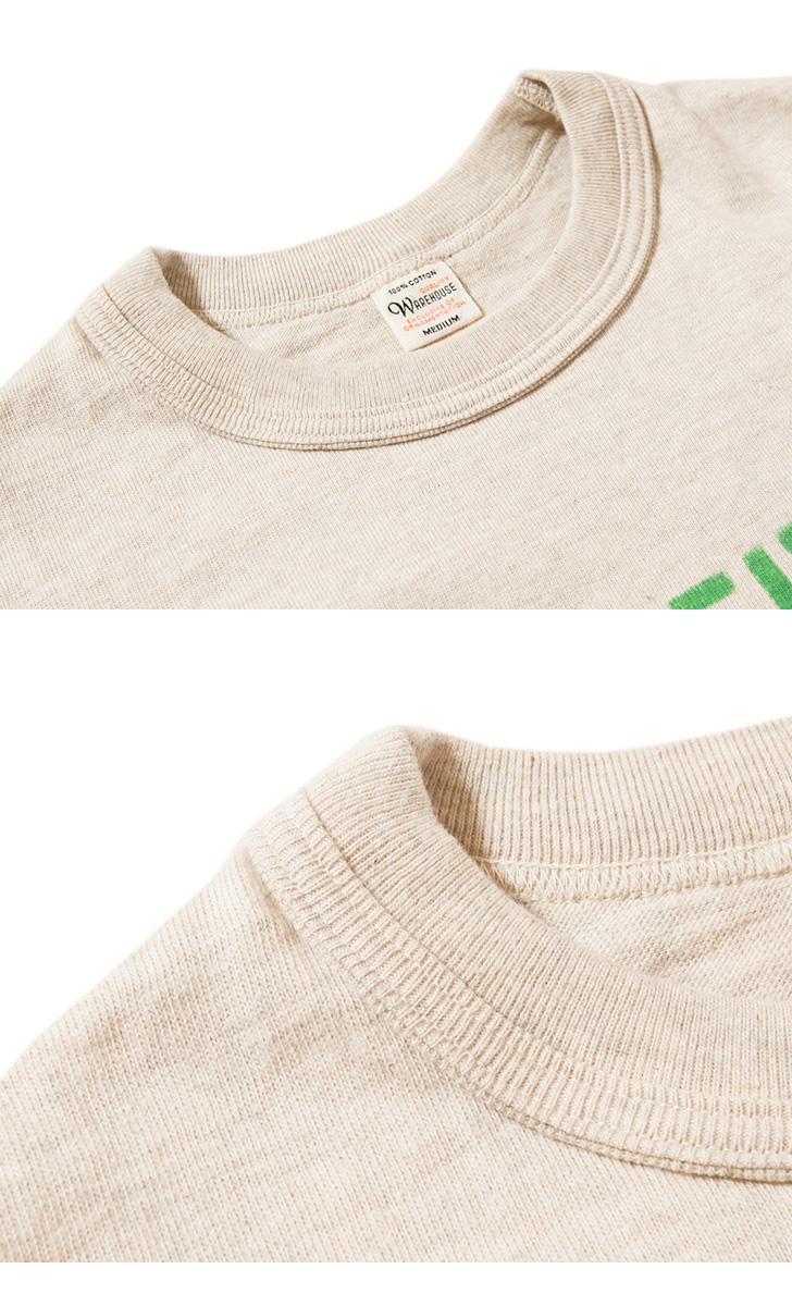 【超特価セール30%OFF/返品交換不可】ウエアハウス WAREHOUSE 半袖Tシャツ Lot 4601 GREEN MACHINE プリントTシャツ