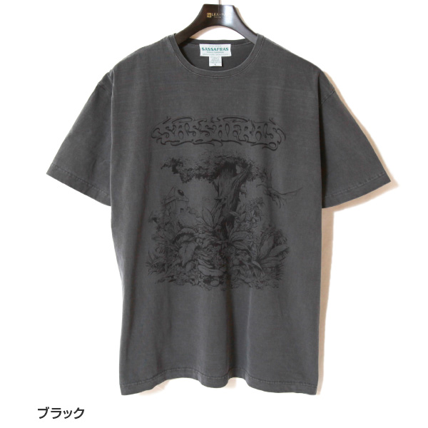 SASSAFRAS ササフラス プリントTシャツ オーバーグロウン SF-211789