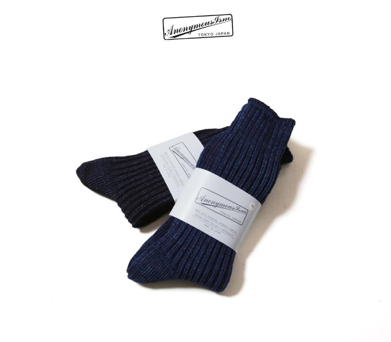 ANONYMOUSEISM アノニマスイズム インディゴリブクルー ソックス 靴下 15217500 メンズ