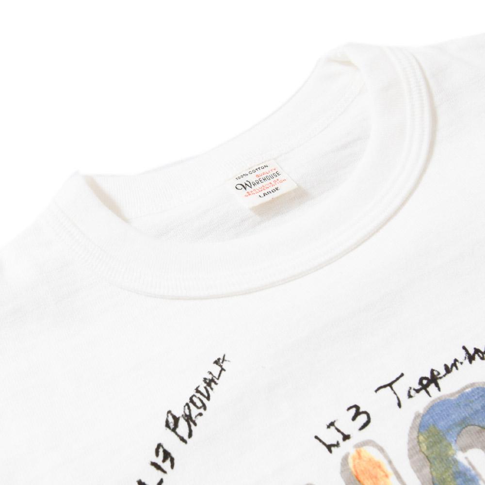 【超特価セール30%OFF/返品交換不可】ウエアハウス WAREHOUSE 半袖Tシャツ Lot 4601 SHORT プリントTシャツ