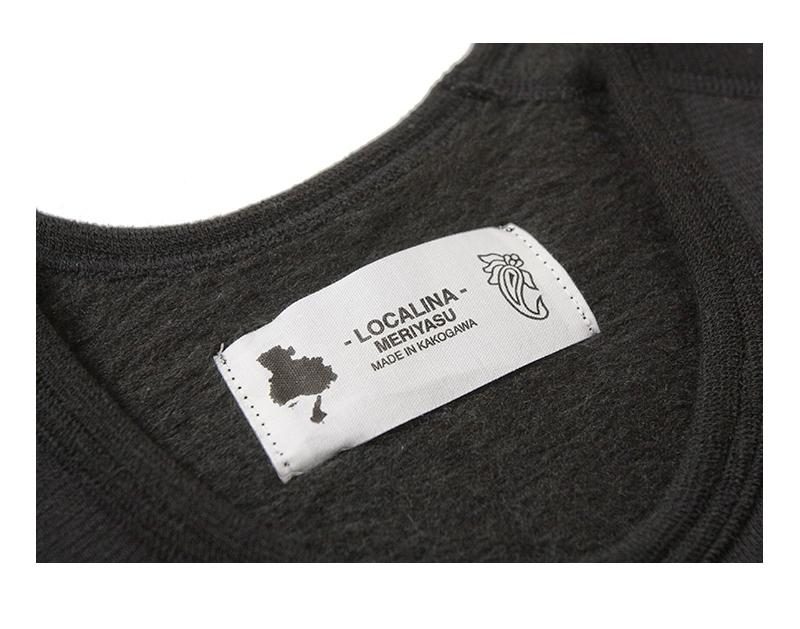 ロカリナメリヤス クルーネック長袖Tシャツ 高機能インナー LOCALINA MERIYASU