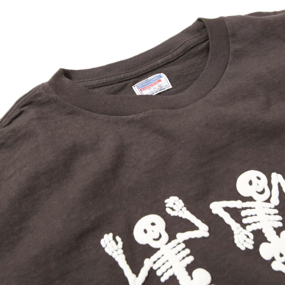【超特価セール50%OFF/返品交換不可】ダブルワークス DUBBLEWORKS Tシャツ DANCING SKELTONES 33005-03 プリントTシャツ
