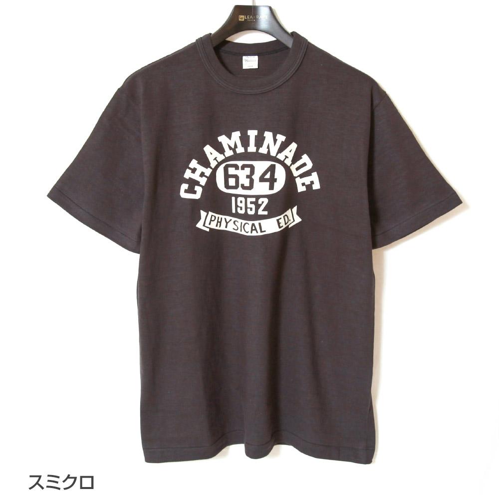 ウエアハウス WAREHOUSE 半袖Tシャツ Lot 4601 CHAMINADE プリントTシャツ