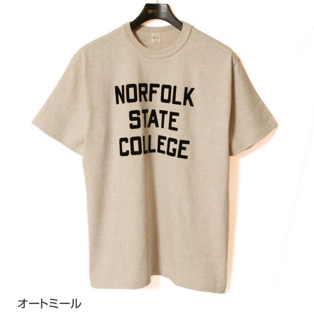 ウエアハウス WAREHOUSE 半袖Tシャツ Lot 4601 NORFOLK プリントTシャツ