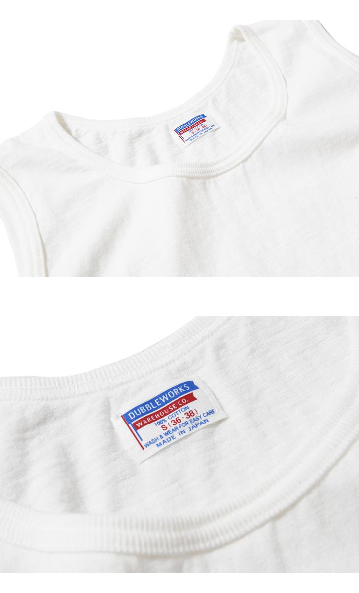 【超特価セール90%OFF/返品交換不可】ダブルワークス DUBBLEWORKS ポケット付きタンクトップ 39002 アメカジ ノースリーブ メンズ