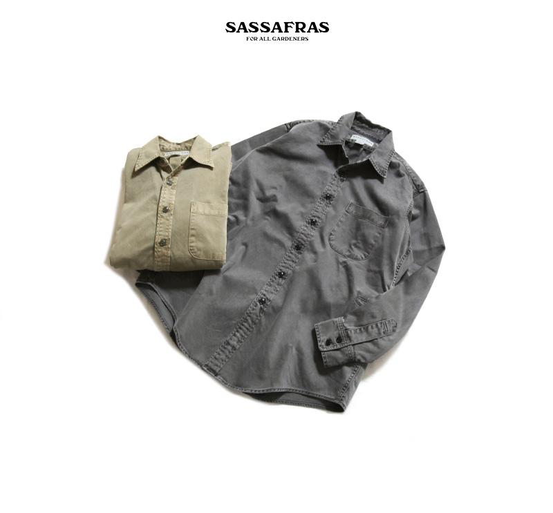 SASSAFRAS ササフラス Wheel Barrow Shirt Satin ウィールバローシャツ サテン SF-201720