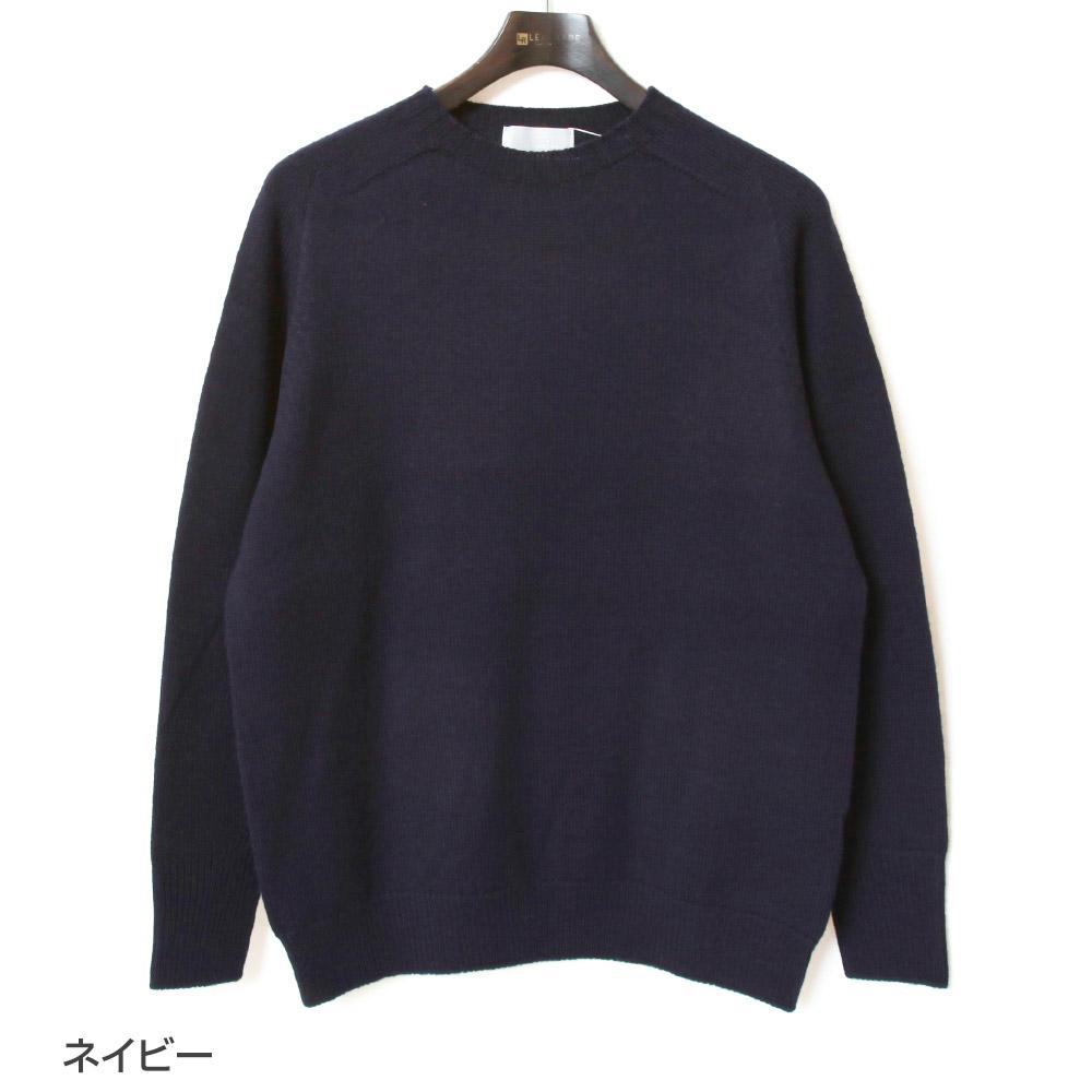 soglia ソリア シームレス ニット セーター WEANERS Seamless Sweater メリノウール メンズ クルーネック 2021年秋冬 無地 シンプル