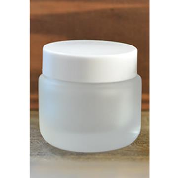 クリーム容器フロスト 白キャップ30g
