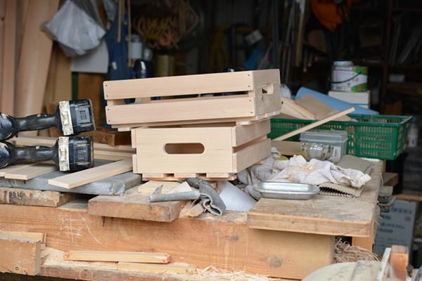 木曽ヒノキで作った『風通しのいい木箱』