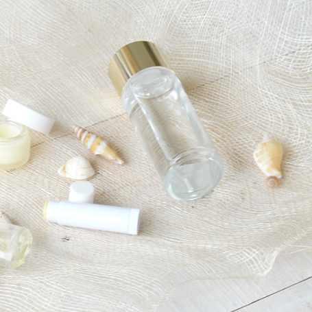 ゴールドCAP化粧水ガラスボトル100ml(クリア)