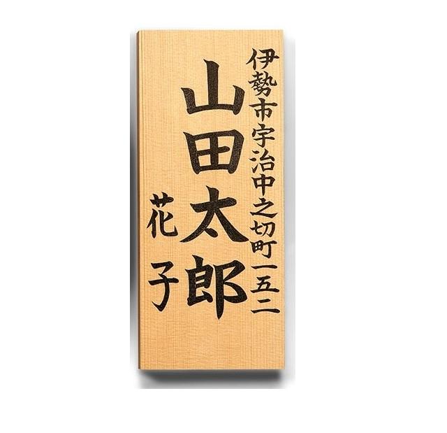 表札(名前・住所入り)
