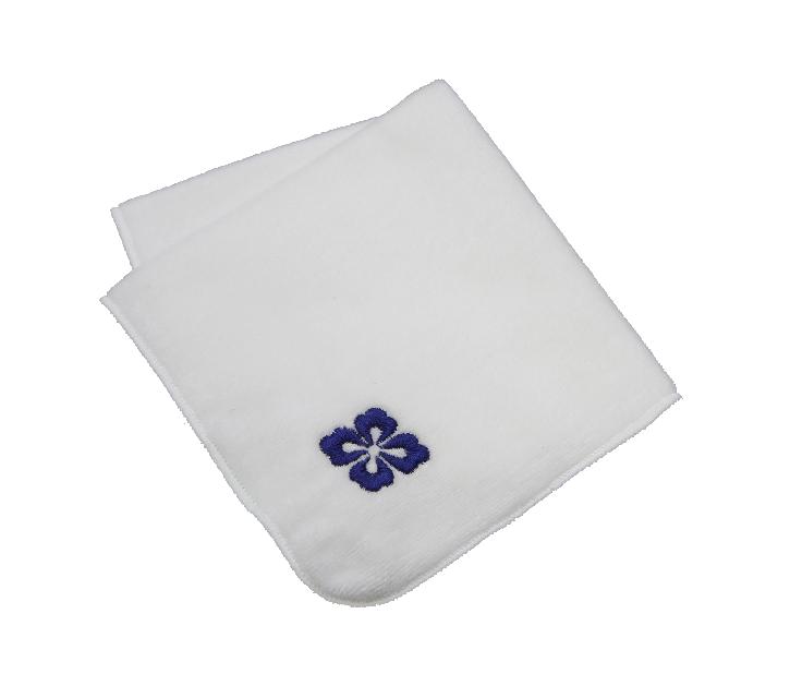 花菱刺繍ハンカチ(白)