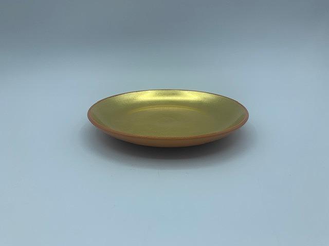 金箔かわらけ五寸皿