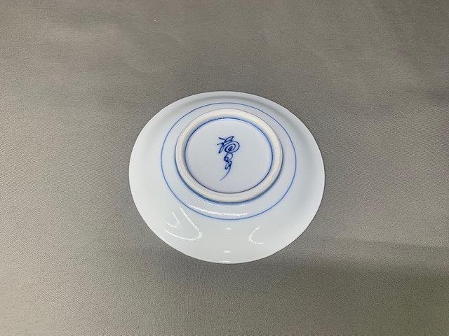 京型小蓋物 染錦古伊万里金彩(台皿付)