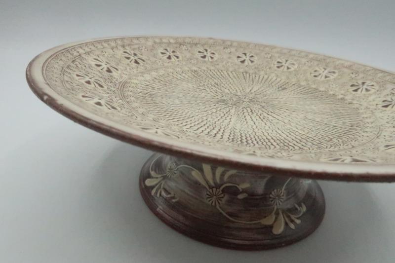 紫三島高台皿