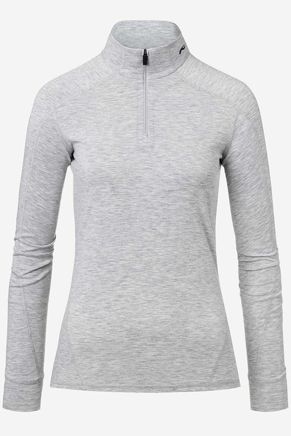 KJUS レディース スキー インナージャケット LS25-E05 Women Trace Half-Zip 16700 silver fog mel