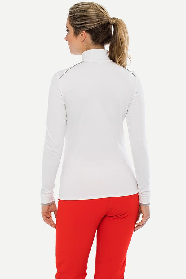 KJUS レディース スキー インナージャケット LS25-E06 Women Feel Half-Zip 10000 white