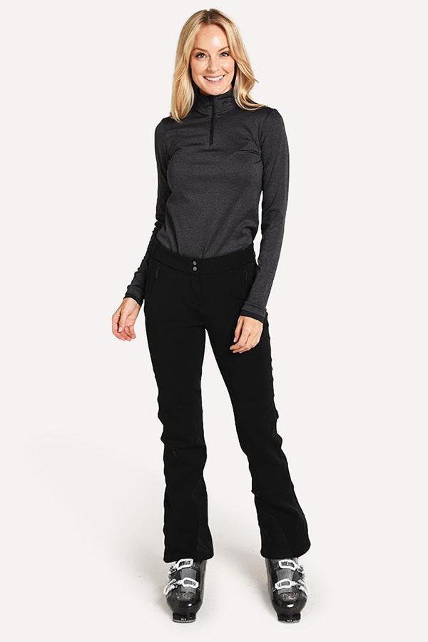 KJUS レディース スキー インナージャケット LS25-E06 Women Feel Half-Zip 15100 black melange