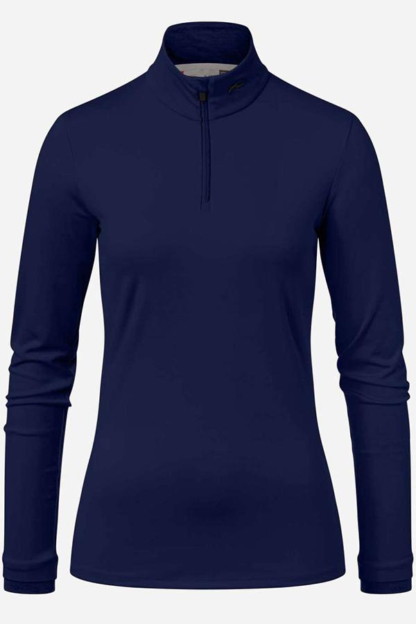KJUS レディース スキー インナージャケット LS25-E06 Women Feel Half-Zip 22300 atlanta blue mel