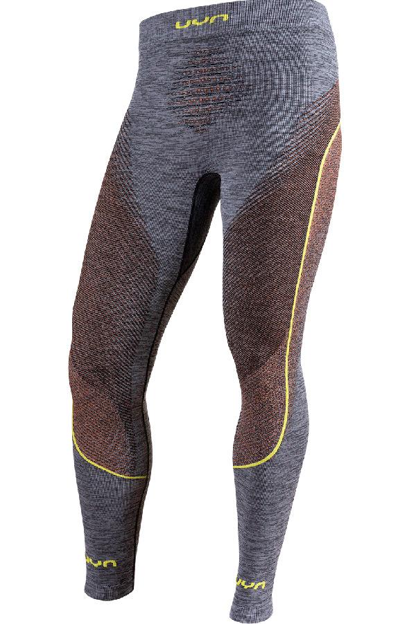 UYN メンズアンダーパンツ AMBITYON UW PANTS LONG B616-BlackMelange/Orange/Yellow