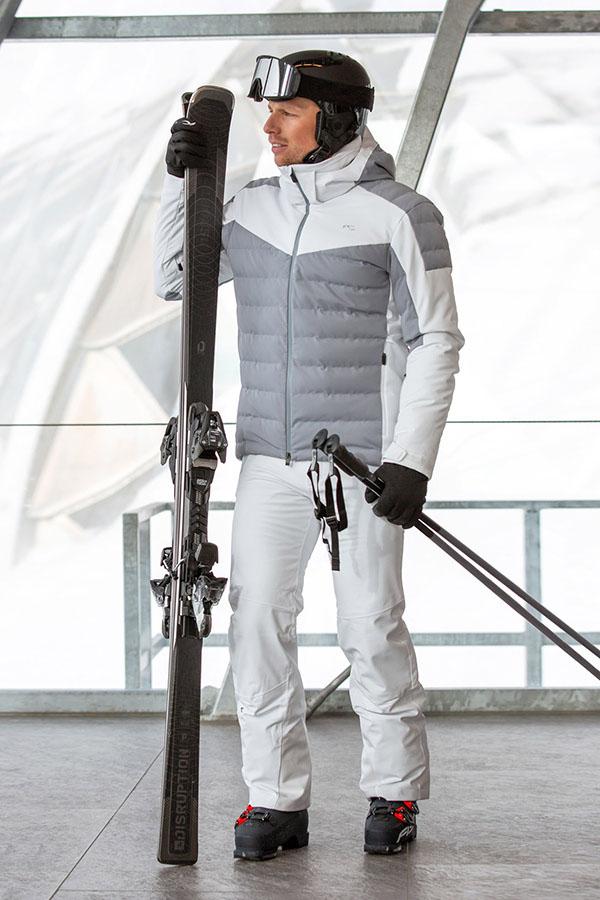 KJUS メンズ スキー ジャケット MS15-I04 Men Slight Line Jacket 12601 anchor grey- wht
