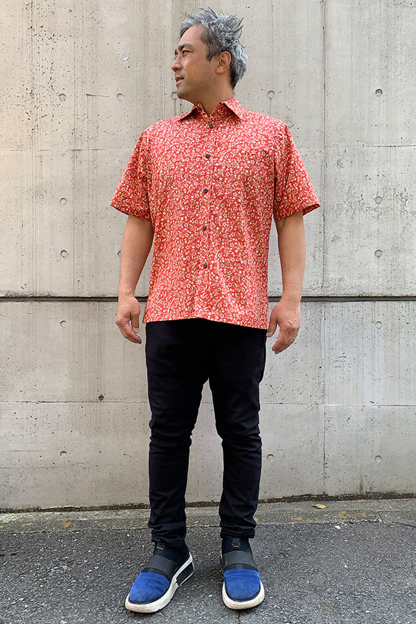 TWO PALMS アロハシャツ メンズ 505C Makalii coral