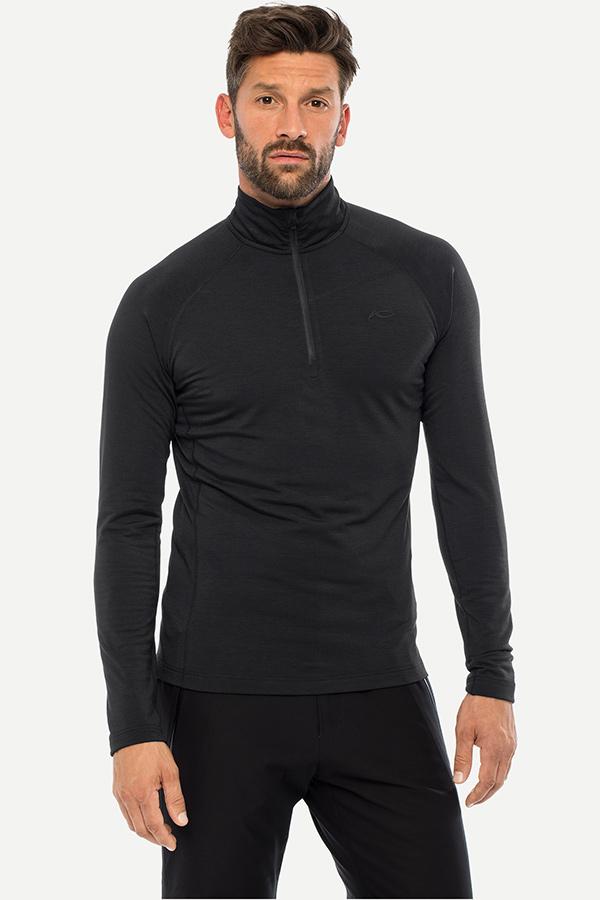 KJUS メンズ スキー インナージャケット MS25-E05 Men Trace Halfzip 15100 black melange