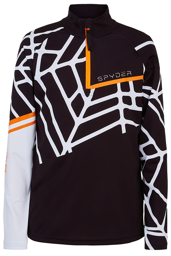 SPYDER スパイダー キッズ スキー インナージャケットTOPS 196018 HIDEOUT 001 BLACK