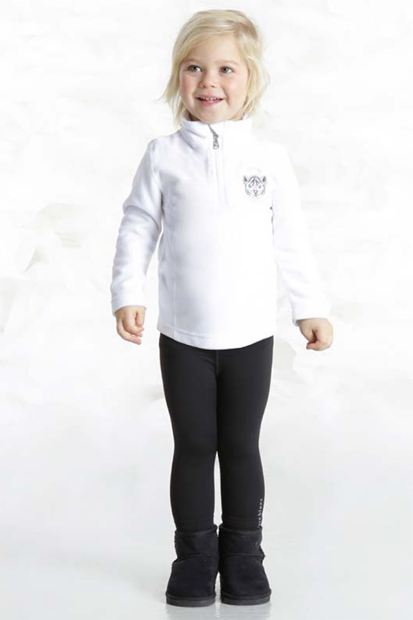 【30%OFF】POIVRE BLANC ベビー スキーインナージャケット W18-1540-BBGL 268805 WHITE 4-6サイズ