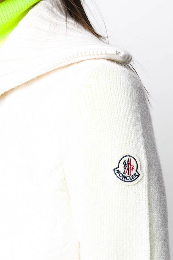 MONCLER モンクレール ジャケット レディース 9B516-A9197 CARDIGAN TRICOT 034/WHITE