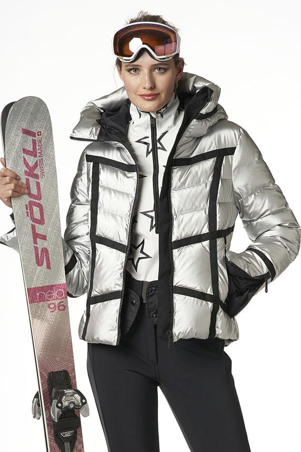 NEW GOLDBERGH レディース スキー ジャケット GB1010204 Mirror 910 SILVER