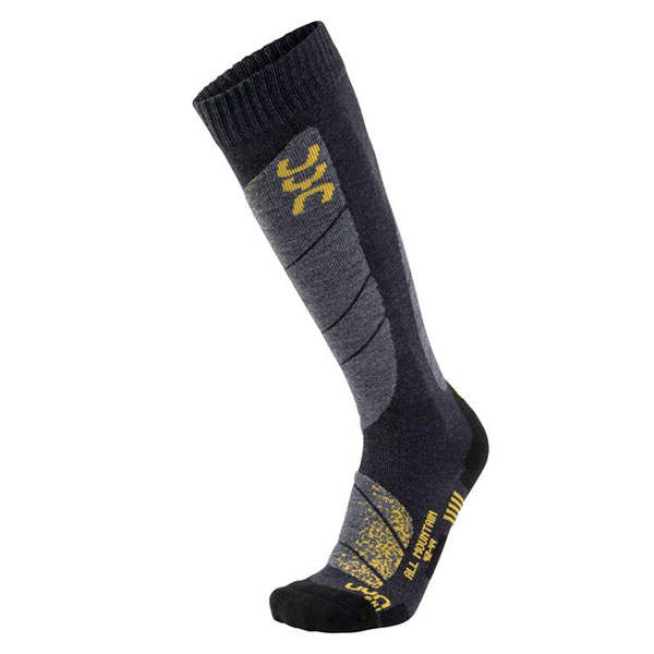 UYN メンズソックス SKI ALL MOUNTAIN SOCKS S100041 G726-Anthracite/Melange/Yellow
