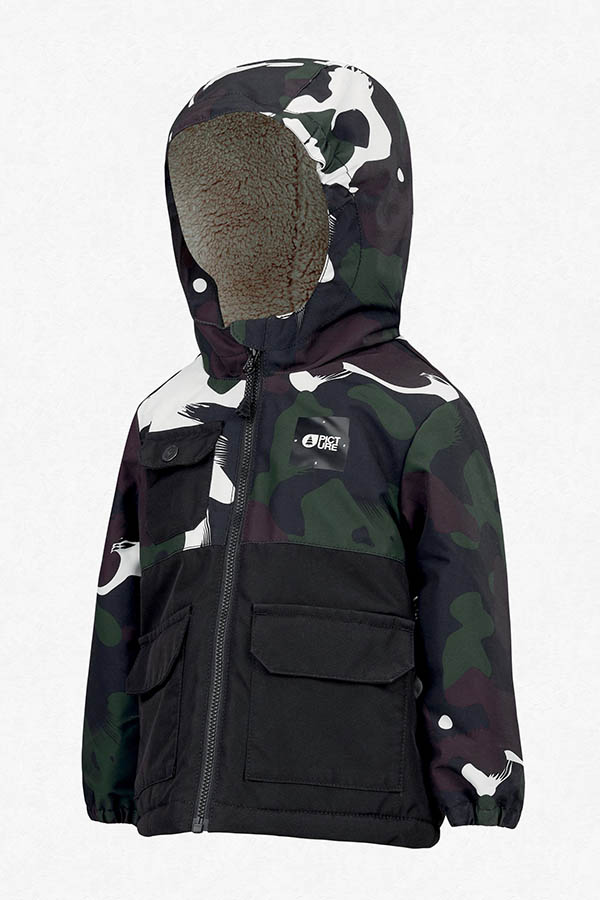PICTURE ベイビーサイズ スキージャケット KVT049 SNOWY JKT B Black Painter