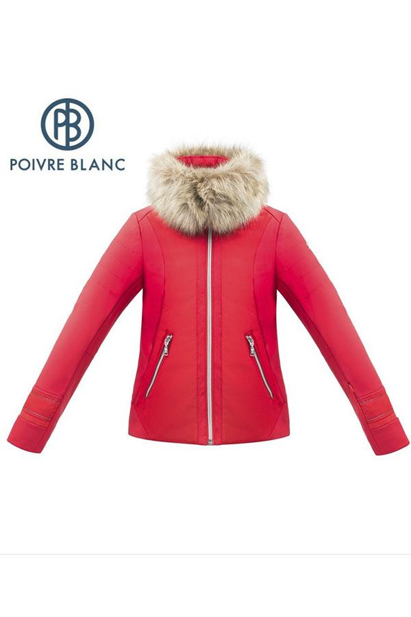 【50%OFF】POIVRE BLANC スキーガールズ ジュニア ジャケット W17-1101-JRGL jacket  softshell 263611 scarlet red 8サイズ