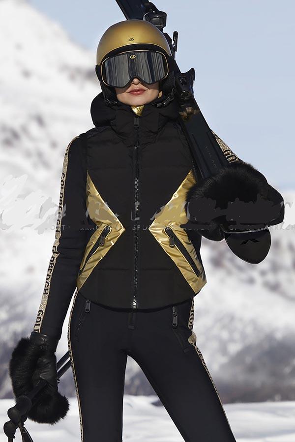 NEW GOLDBERGH レディース スキー ベスト VEST GB0281204 Camilla 710 BLACKANDGOLD