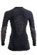 UYN レディースアンダーシャツ FUSYON C UW SHIRT LS ROUND NECK U100121 J257-GreyStone/Copper