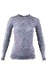 UYN レディースアンダーシャツ AMBITYON UW SHIRT LS ROUND NECK U100023 W354-GreyMelange/Nude/ Salmon