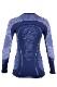 UYN レディースアンダーシャツ AMBITYON UW SHIRT LG_SL U100027 A816-DeepBlue/White/Light blue