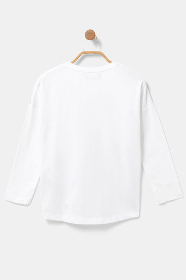 WHITE SALE  50%OFF  DESIGUAL デシグアル カットソー キッズ 20WGTK54 TS_PETERBOROUGH 1000/BLANCO