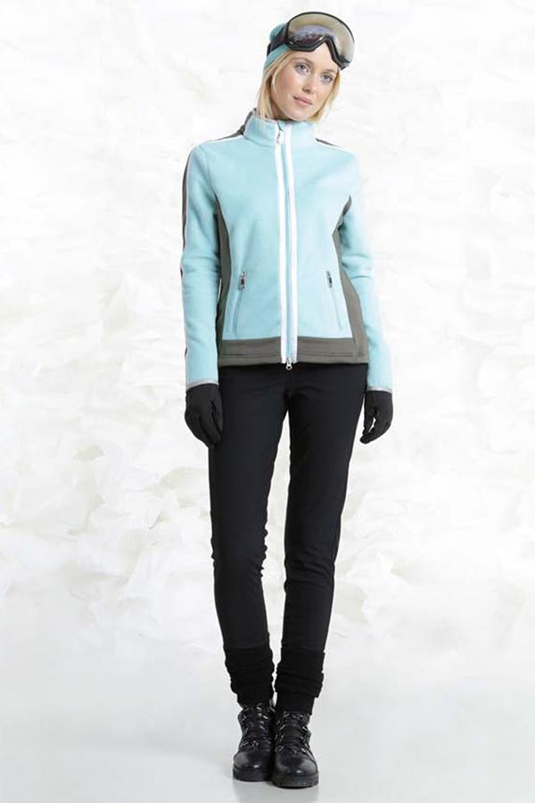 【50%OFF】POIVRE BLANC スキーインナージャケット レディース W18-1604-WO 268711 103 DREAM BLUE/KHAKI GREY