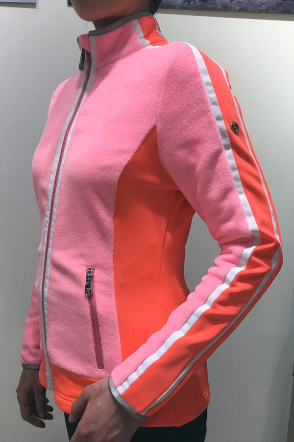【50%OFF】POIVRE BLANC スキーインナージャケット レディース W18-1604-WO 268711 108 PUNCH PINK/NECTAR ORENGE
